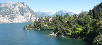 Lake of Garda panoramic view